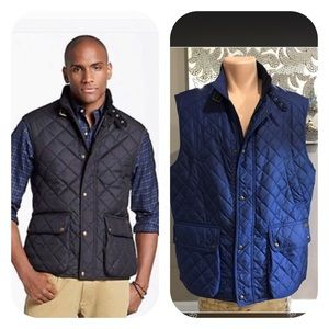 Polo by Ralph Lauren Navy Quilted Full Zip Vest